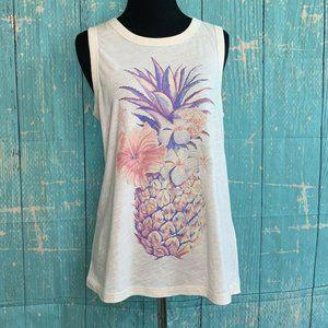 Lucky Brand Pineapple print muscle tank top Shirt